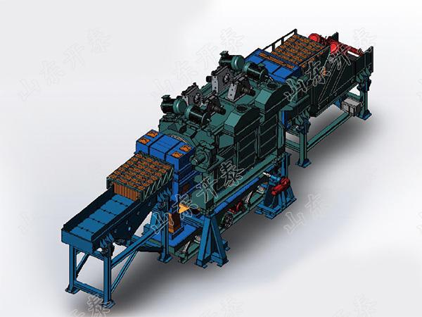 山東開泰CT4-45系列連續通過式傾角可調鋼履帶拋丸清理機